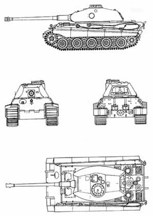"T-VI B ""Королевский тигр""."